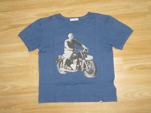 Kids Boys DOLCE&GABBANA Steve McQueen Blue T-Shirt Top 3 yrs years Short Sleeve