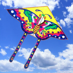Children Butterfly Kites Kids Toy Outdoor Flying Game 90*50cm Kite With 15M Line