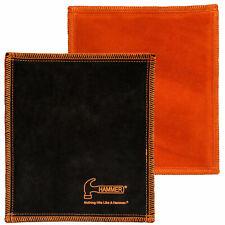 Hammer Bowling Ball Shammy Pad black orange Reinigungs Leder für Bowlingkugeln