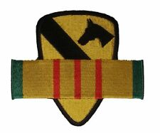1ST CAV DIV FIRST TEAM CAVALRY DIVISION WITH VIETNAM SERVICE RIBBON PATCH VET