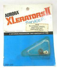 AURORA XLERATORS II SLOTLESS SLOT CAR HO ( 1 Pair FRONT WHEEL & TIRE SET ) NEW