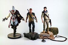 Assassin's Creed 2 Ezio Statue - Uncharted 3 Drake Statue - Infamous 2 Statue