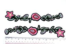 Beautiful Flowers Iron on Patch Embroidered for decoration.
