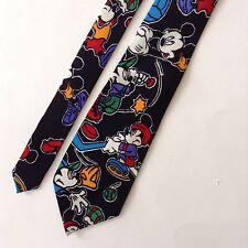 Mickey Mouse Sports Neck Tie 100% Silk Black Mickey & Co Balancine