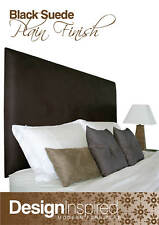 Classic High Bedhead / Headboard for King Ensemble - Black Suede