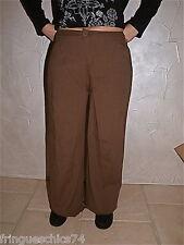 joli pantalon large en lin camel très classe  MC PLANET taille 42 NEUF ÉTIQUETTE