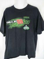 NASCAR Dale Earnhardt Jr. Mens Size 2XL Black Short Sleeve Shirt Amp Energy