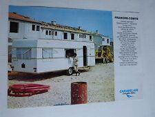 Catalogue prospectus : caravanes CARAVELAIR modèle franche comte des années 60