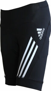 Adidas Ladies Supernova Trousers, Tight, Shorts With Cushion IN Black Size 32 -