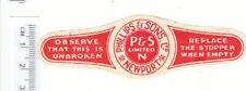 More details for british beer label. phillips, newportm red