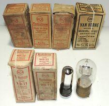 Antique Radio Tubes Radiotron WD-11 UV-201A And Van Horne Mogul 5-VC (3 Duds)