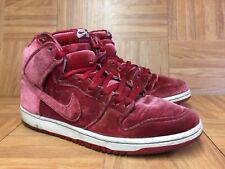 RARE🔥 Nike Dunk High Pro SB Red Velvet Gym Red White Sz 11 313171-661 Mens Shoe