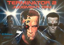 """New ListingWilliams """"Terminator 2"""" Pinball Translite (Backglass) New Nos"""