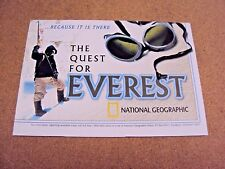 National Geographic June 2002 Wall Map Poster The Quest For Everest Expedition