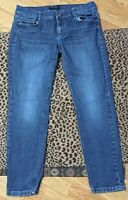 White House Black Market Blue Jeans Pants Womens 8 Slim Ankle Feel Beautiful