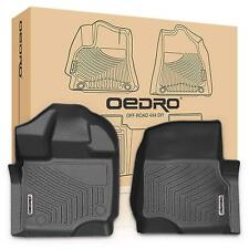 oEdRo for 2015-2018 Ford F150 Super Crew/SuperCab TPE Front Floor Mats Liners