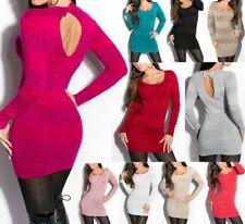 SeXy Miss Damen Pullover Long Pulli Schleife Glitzer Lurex Feinstrick 34/36/38