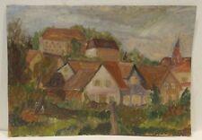 """""""Expressive Dorf/Landschaftsansicht """"Öl./Papier  sign. R.Wanner"""