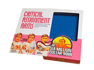 Denys Fisher Six Million Dollar Man Critical Assignment Arms Reproduction Box