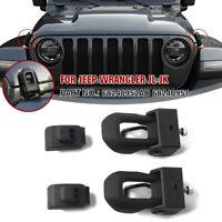 🔥 Steel Hood Lock Latches Catch Bracket Pair For Jeep Wrangler JK JL