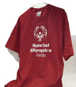 Gildan SPECIAL OLYMPICS - Florida Games NEW Red T-Shirt 3XL 100% Cotton