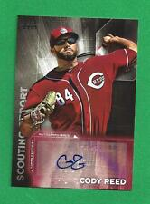 2016 Topps Scouting Report Auto CODY REED Cincinnati Reds #SRA-CR.