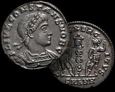 CONSTANS Roman Emperor 337 - 350 AD. Antioch AE3 Follis coin + COA  Unique..!