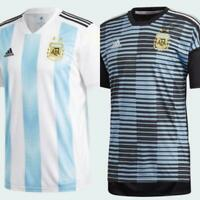 adidas Men's Soccer Argentina Home Pre-Match Jersey White Black Blue