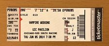 2014 Vampire Weekend / Cults Chicago Concert Ticket Stub Modern Vampires Of City