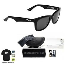 NEW Electric Visual Detroit Gloss Black  Mens Square Sunglasses Msrp$130