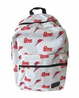 David Bowie Red Bolt Logo White Backpack New Official