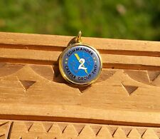 """Commander Carrier Group Two 1"""" Metal Necklace Pendant Charm"""