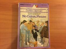 No Coins, Please By Gordon Korman (paperback, 1984). Vintage Scholastic.