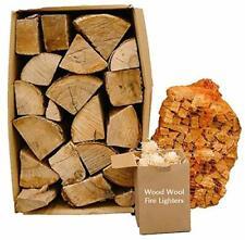 More details for kiln dried 20kg hardwood logs, 3kg kindling + 50 eco firelighters starter bun...