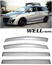 For 06-10 Mazda 5 Sedan WellVisors Side Window Deflector Visors Premium Series