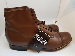 Stacy Adams Madison Cap Toe Brown Dress Boot US 11 New!
