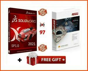 SOLIDWORKS PREMIUM 2021 SP1.0 ⭐+ SOLIDCAM 2020 SP3 HF3 ⭐ Full Version ⭐