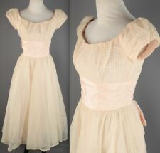 Vtg 50s 60s Harzfeld's Eyelet Overlay Sheath Dress #1846 1950s 1960s