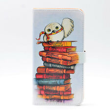 Cute Harry Potter owl Hedwig Leather Wallet Card Holder Case For iphone 7 8 Plus