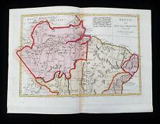 1787 BONNE & DESMAREST - Orig. map of SOUTH AMERICA, BRAZIL, GUYANA, BOLIVIA....