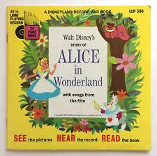 Walt Disney Record & Book Lp 24 pg Book Alice in Wonderland Vtg 1951