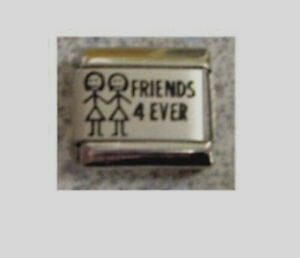 9mm Italian Charms L11  Friends 4 Ever Forever Fits Classic Size Bracelet