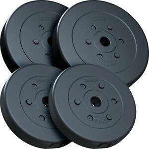 ScSPORTS® 30kg Hantelscheiben Set 2x10 kg 2x5 kg Hantel Gewichte 30mm Kunststoff