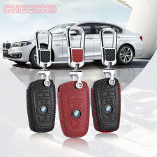 For BMW X3/ X4/ X5 5 Series 3 Button Smart Remote Key Case Cover Holder Bag