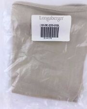 Longaberger Card Keeper Basket Liner Only Oatmeal Nib