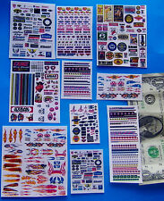 HO & 1:64 SLOT CAR Waterslide Decals,NASCAR HOOKER PENNZOIL SHELL NHRA TIRES ETC