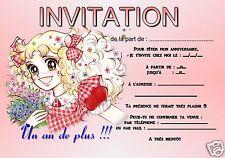 5 - 12 oder 14 karten einladung geburtstag candy REF 358