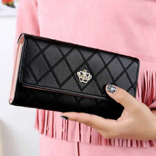 New Women Purse Clutch Leather PU Wallet Long Card Holder Mobile Phone Handbag L