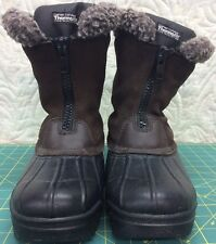 DUPONT CERTIFIED THERMOLITE BOOTS SIZE 8 ZIP-UP SNOW BOOTS