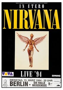 Nirvana In Utero Concert Poster Cancelled Show Reproduction Print Berlin 94